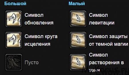 символы для холи приста 3.3.5 пве